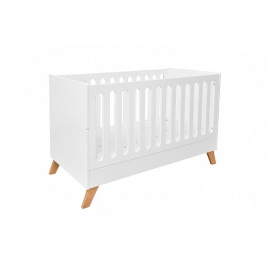 Hoppa - Bērnu gultiņa (balts, dižskabārdis)