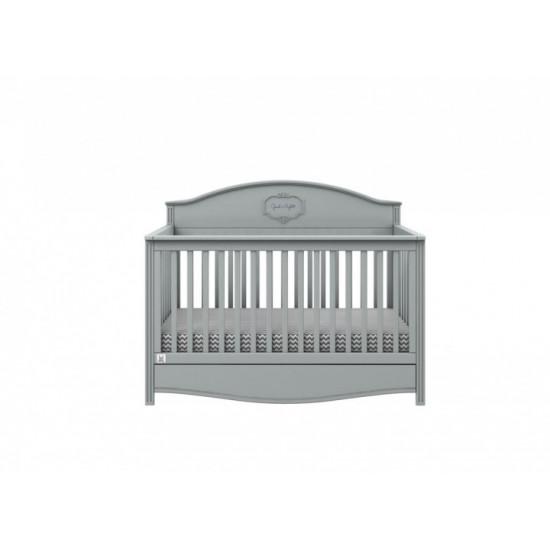 Good Night 3in1- Bērnu gultiņa / jauniešu gulta / dīvāns, 70x140cm ar atvilkni (grey)