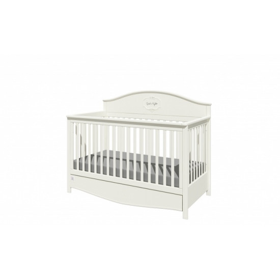 Good Night 3in1- Bērnu gultiņa / jauniešu gulta / dīvāns, 70x140cm ar atvilkni (Pure)