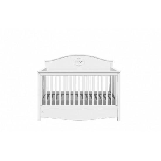Good Night 3in1- Bērnu gultiņa / jauniešu gulta / dīvāns, 70x140cm ar atvilkni (Snow)