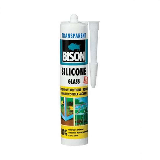 Bison Glass Silicone, silikons stikla izstrādājumu līmēšanai, caurspīdīgs, 310ml
