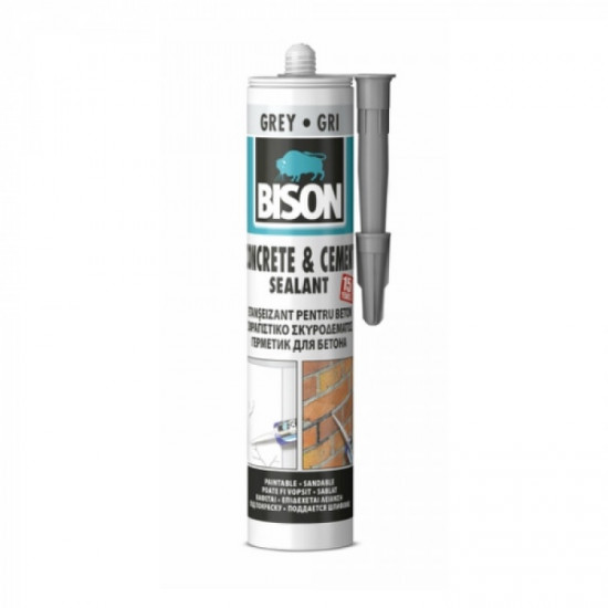 Bison Concrete & Cement Sealant, hermētiķis cementam un betonam, 310ml
