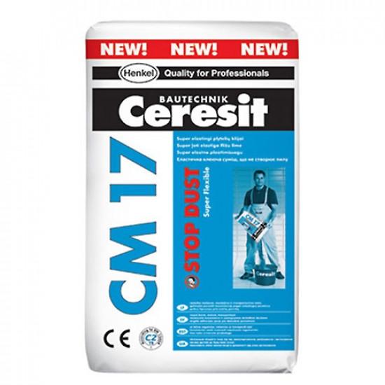 Ceresit īpaši elastīga flīžu līme CM17 SD, 25kg
