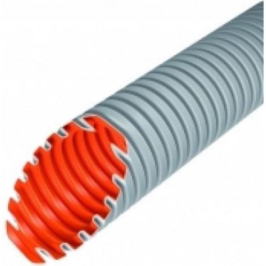 Evopipes gofrēta caurule D=16mm 320N 100m gaiši pelēka EVOEL FL-0H