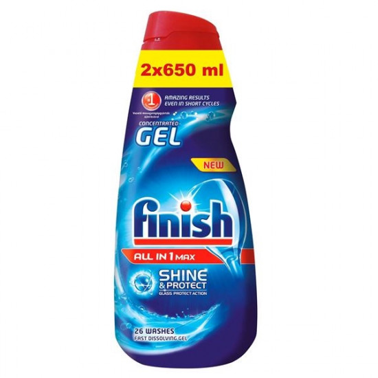 FINISH želeja trauku mazgāšanas automātiem 2x650ml