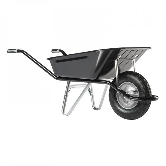 Ķerra HAEMMERLIN - CARGO EXCELLIUM 100, melna, pneimatisks ritenis ar gultņiem, 100L, 200Kg