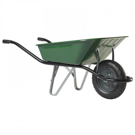 Ķerra HAEMMERLIN - CARGO MEDIUM 100, zaļa, pneimatisks ritenis, 100L, 150Kg