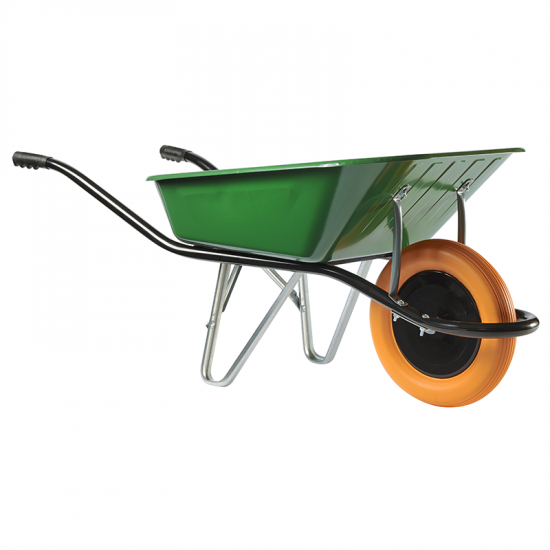 Ķerra HAEMMERLIN - CARGO MEDIUM 100, zaļa, poliuretāna ritenis, 100L, 150Kg