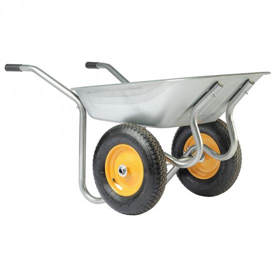 Ķerra HAEMMERLIN - START TWIN, ZN, 2 pneimatiski riteņi, 90L, 120Kg