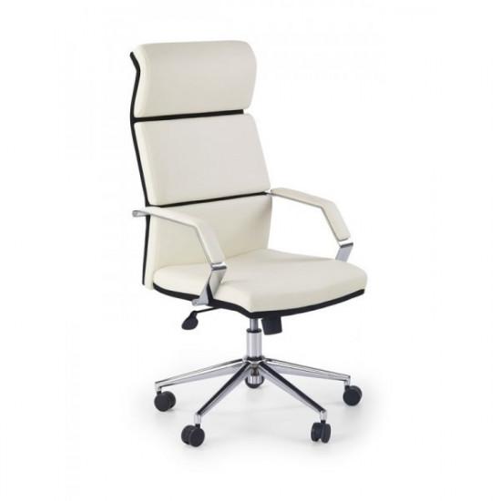 Biroja krēsls Halmar Costa, (balts/melns)