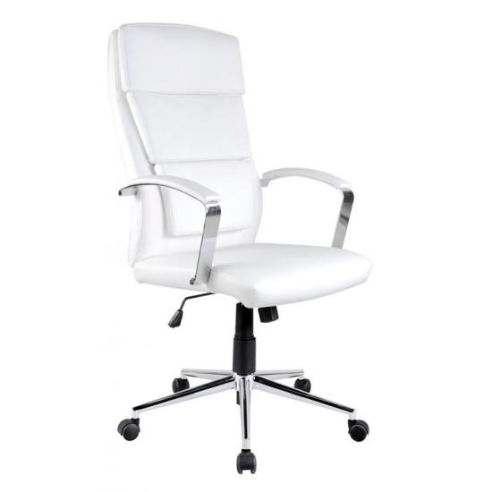 Biroja krēsls Halmar Aurelius, (eco āda, balta)