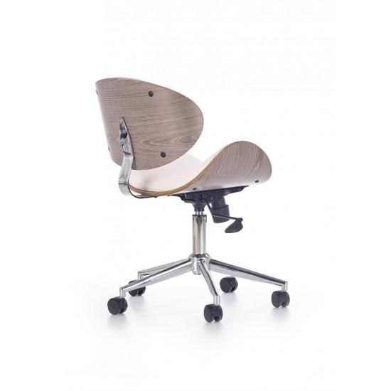 Biroja krēsls Halmar Alto,  (balts/gaišs ozols)