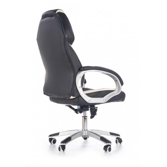 Biroja krēsls Halmar Barton,  (balts/melns)