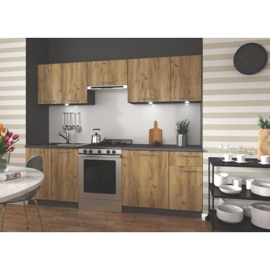 Virtuves komplekts Halmar Daria 240 (ozols fasāde)