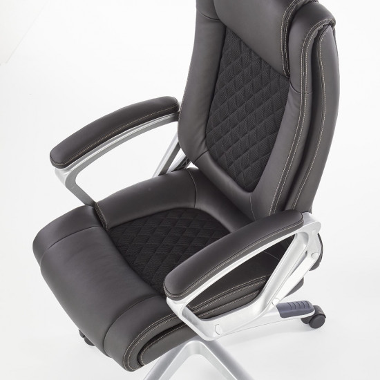 Biroja krēsls Halmar Loriano,  (melns)