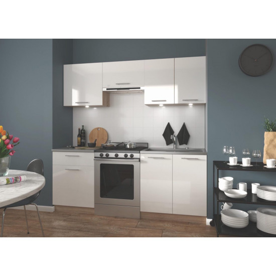 Virtuves komplekts Halmar Marija 200 (Baltas krāsas fasāde)