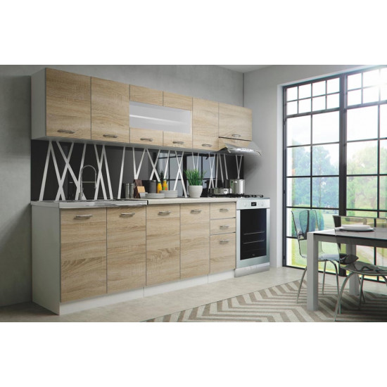 Virtuves komplekts Halmar Perla 260 (ozola krāsas fasāde)
