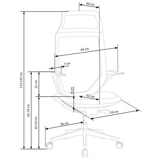Biroja krēsls Halmar Genesis 2,  (melns)