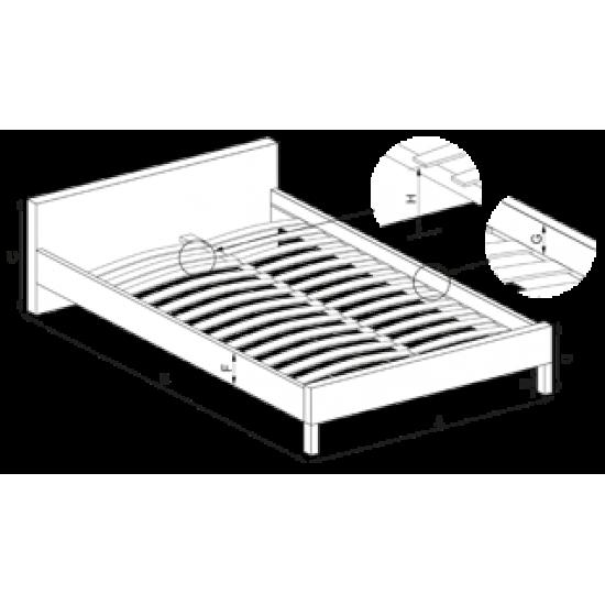 Divguļamā gulta Halmar Betina 160x200cm, bez matrača