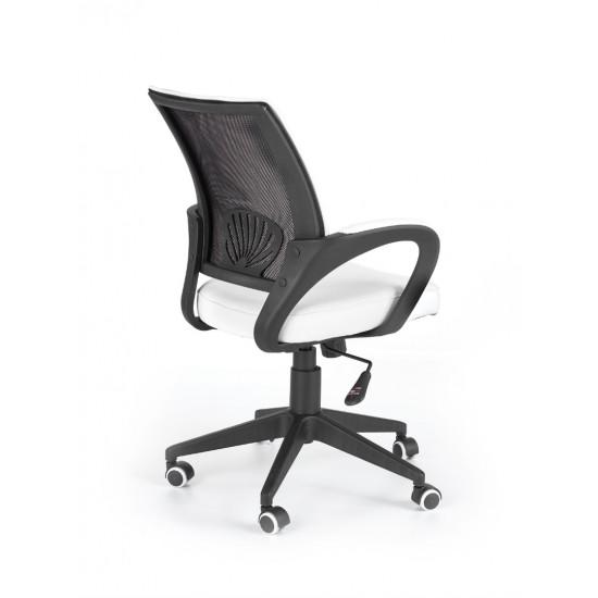 Biroja krēsls Halmar Lucas,  (balts/melns)