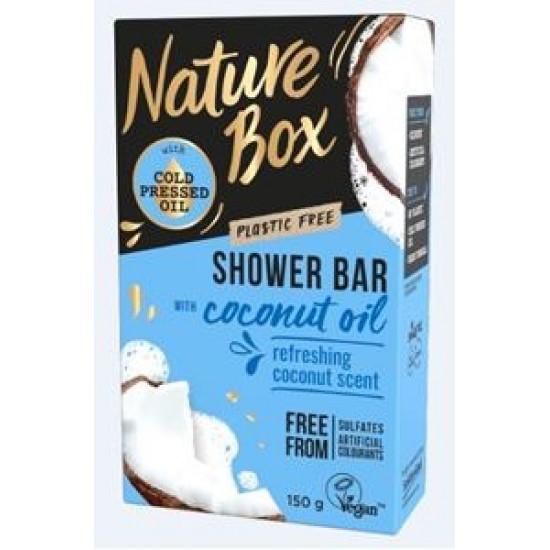 NATURE BOX cietā dušas želeja Coconut, 150g