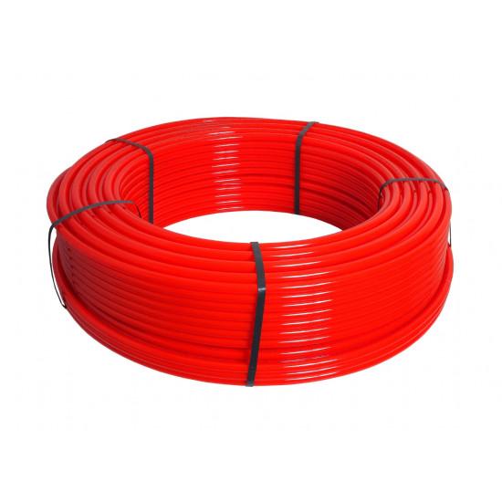 Silto grīdu caurule HERZ-LINE PE-RT 16x2mm, 480m rullī, sarkana