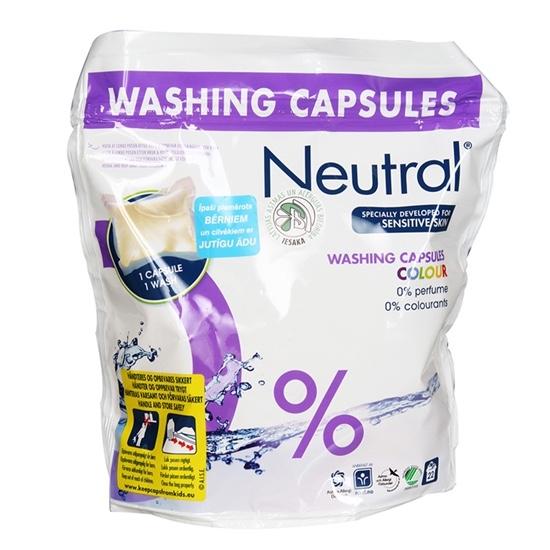 NEUTRAL veļas mazgāšanas kapsulas COLOUR, 22x35ml