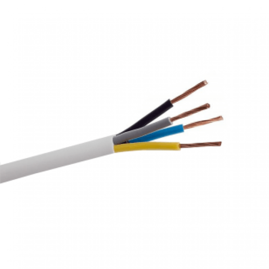 Instalācijas kabelis (N)YM-J 4x1.5mm² balts 100m