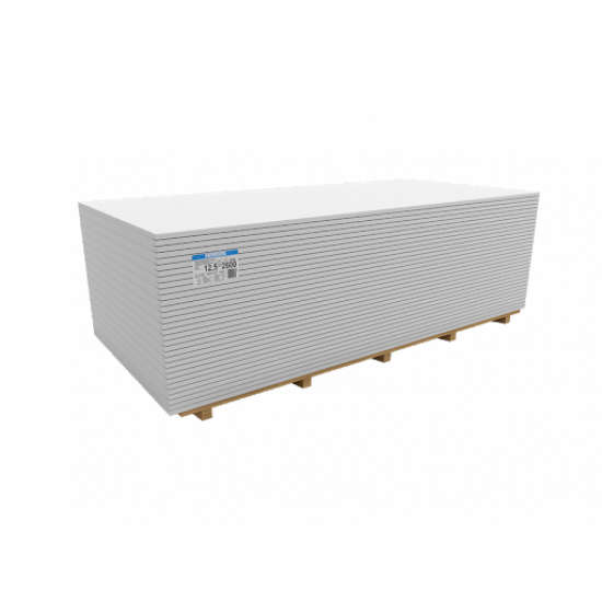 NORGIPS S (GKB) standarta reģipsis (ģipškartons) 1200x2000x12.5mm