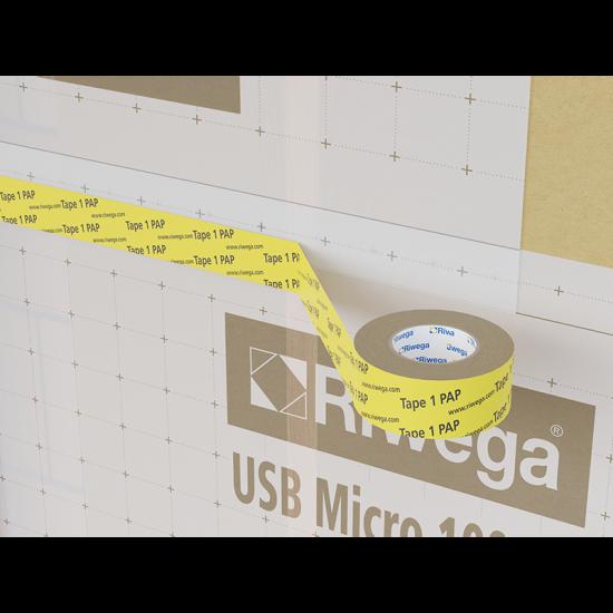 Membrānu savienošanas lenta Riwega USB Tape 1PAP 60mm, 25m (iekšdarbiem)
