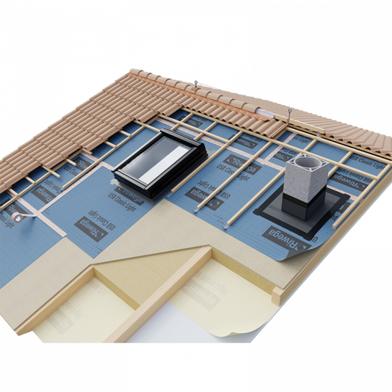 Difūzijas membrāna jumtiem, sienām Riwega USB Classic Light 1.5x50m (ārdarbiem)