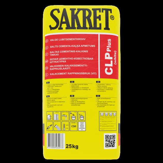 Sakret CLP+ CSII kaļķa-cementa apmetums, balts 40kg