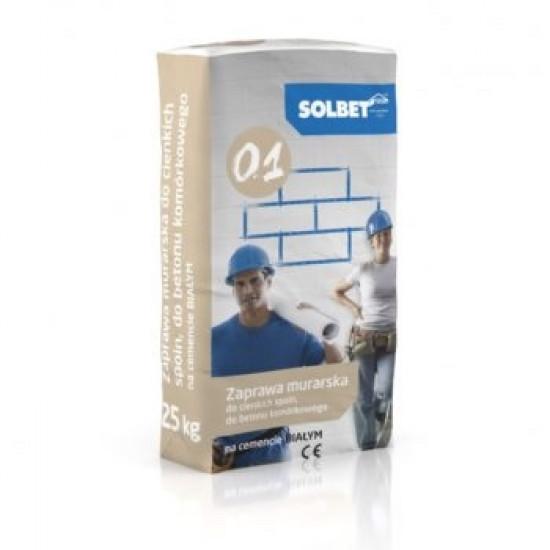 Gāzbetona bloku līme SOLBET 0.1 M5 (pelēka)