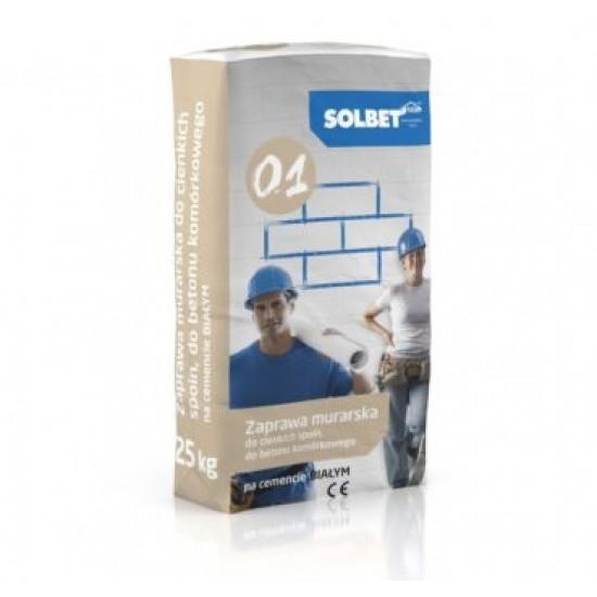 Gāzbetona bloku līme SOLBET 0.1 M5 (balta)