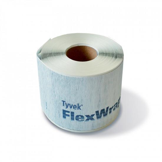 TYVEK FlexWrap  Elastīga pašlīmējoša lokana lente ar membrānu, 152 mm, 23m