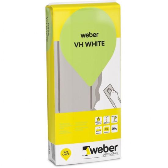 Weber VH nobeiguma špaktele mitrām un sausām telpām 20kg (balta)