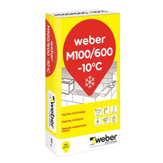 Weber mūrjava M 100/600 (ziemas) -10, 10-15mm, 25kg