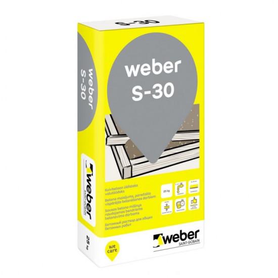 Weber S-30 rupjais, ātri cietējošais betons 25kg