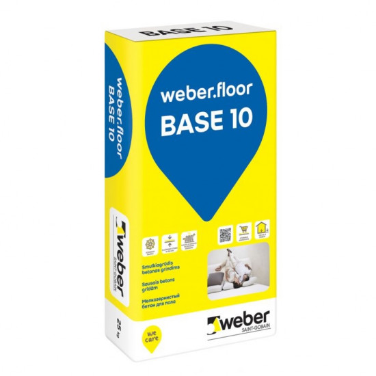 Weber Floor Base 10 sausais betons grīdām 25kg