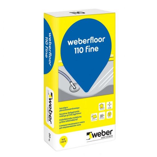 Weber Floor 110 Fine (4150) smalkais grīdu pašizlīdzinātājs (4-30mm) 20kg