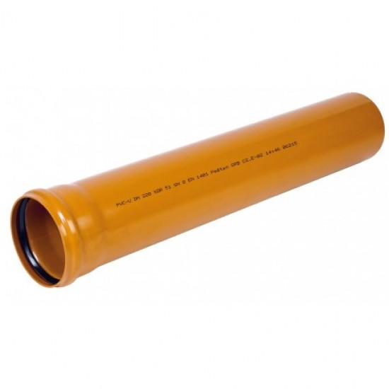 Ārējā kanalizācija caurule Wavin PVC SN4 Ø 110x3.2mm; L-0.5m